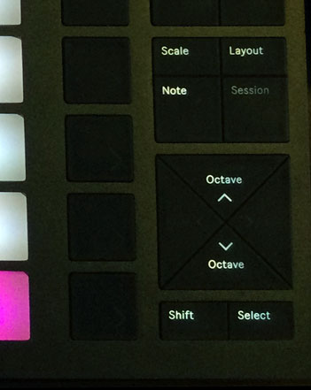 Ableton Push 2 Octave