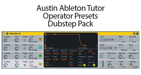 Free Dubstep Presets for Ableton Operator